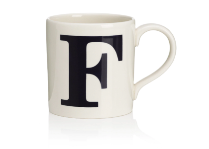 F Mug from M&S - misconduct