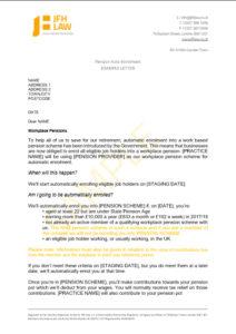 Pension auto enrolment example letter jfh law pension auto enrolment example letter spiritdancerdesigns Choice Image
