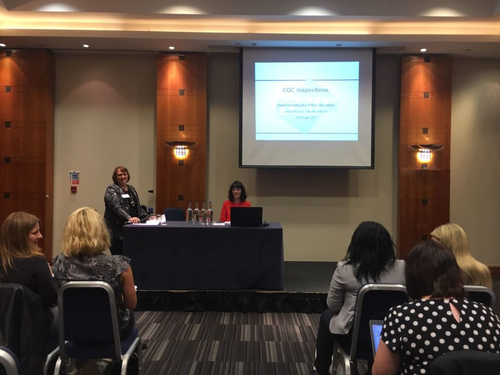 Laura Pierce at the Dental CQC Inspection Conference 2017