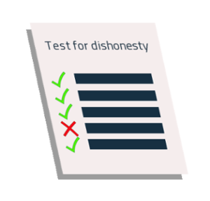 Test for dishonesty