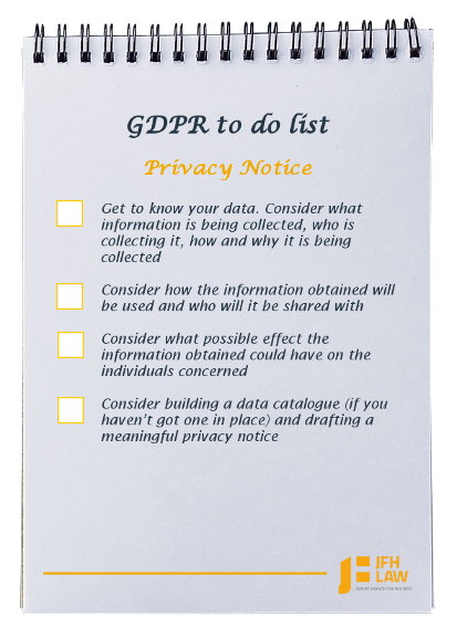 GDPR to do list for dental practices - privacy notice