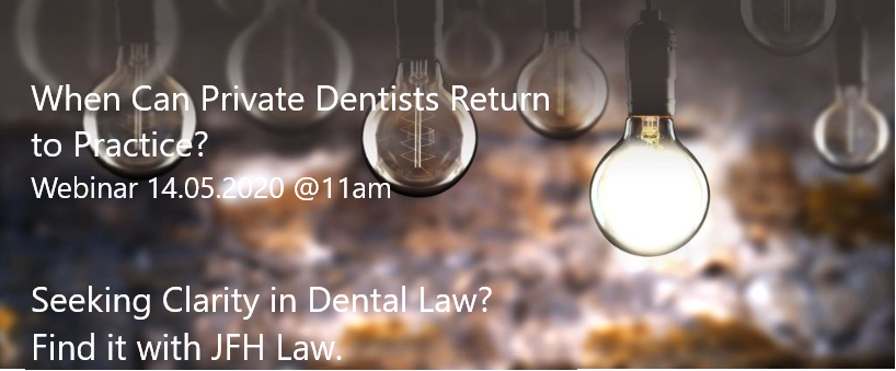 Private Dental Practices; when can they reopen?